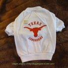 Texas Longhorns NCAA Sports Dog Tee Shirt 3X Size