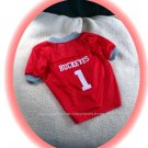 Ohio State University OSU Buckeyes Deluxe NCAA Football Dog Jersey Petite Size