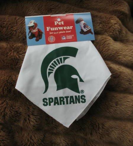 Michigan State Spartans Dog Bandana Official NCAA Football Sports Pet Apparel