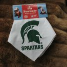 Michigan State Spartans Dog Bandana Official NCAA Football Sports Pet Apparel