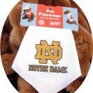 White Notre Dame Fighting Irish Dog Bandana Official NCAA Football Sports Pet Apparel