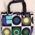 Girls Teen Ladies Black Retro Art Canvas Handbag NWT