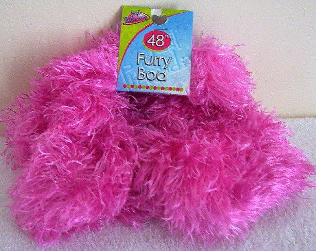 Girls Hot Pink Furry Boa 48 Inch Long Dress Up Must NWT