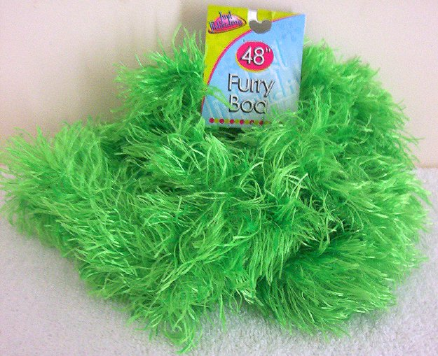 Girls Green Furry Boa 48 Inches Long Dress Up Must NWT