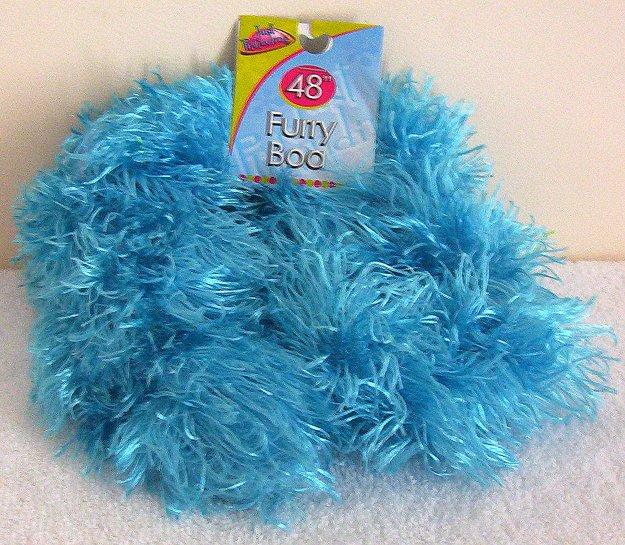 Girls Blue Furry Boa 48 Inches Long Dress Up Must NWT
