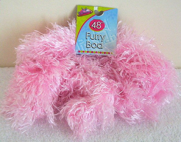 Girls Pink Furry Boa 48 Inches Long Dress Up Must NWT