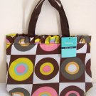 Girls Teen Ladies Brown Retro Art Canvas Handbag #1 NWT
