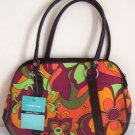Girls Teen Ladies Orange Green 70s Retro Handbag NWT