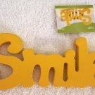 Girls Yellow Smile Wood Sign U Decorate It New!