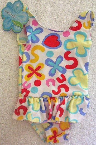 Infant Girl Bright Color 6m 12m Tank 1 PC Swim Suit NWT