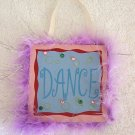 Girls Purple Fur Trim Dance Room Decor Door Sign Brand New!