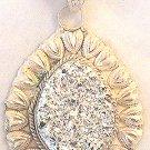 Men's .925 Silver Titanium Druzy Pendant 21.2 Grams