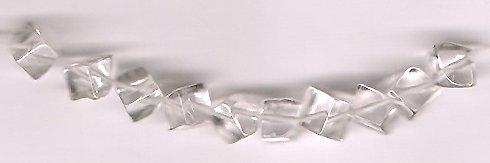 Genuine Crystal Quartz 5 mm Cube Beads Lot of 10