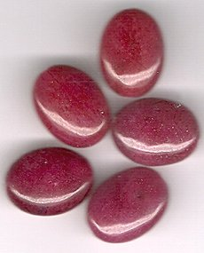 Australian Berry Jade 12 x 15 mm Oval Beads - Lot of 5