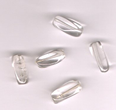 Genuine Crystal Quartz Rectangle Tube Beads Lot of 5