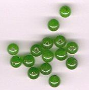 Bright Green Apple Quartz 6mm Round Beads- Lot of 15 beads