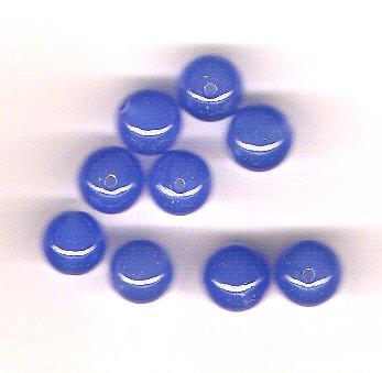 Beautiful Blueberry Quartz 8 mm Round Beads - Lot of 9 Beads