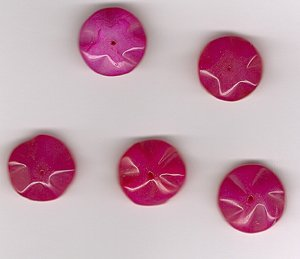 Australian Ruby Jade 18mm Floral Beads - Lot of 5