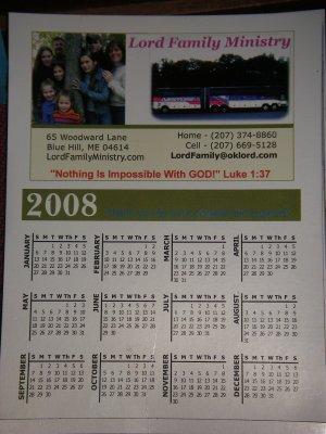 Lord Family Calendar Magnet