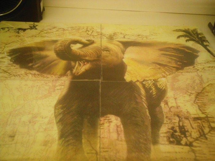 "ELEPHANT MURAL (31"" SQUARE)"