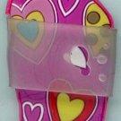 Flip Flops Beach Sandals Keychain Purple Orange Yellow & White Hippie Power Hearts #0120