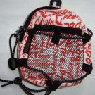 Backpack Style Cell Phone Bag Holder Coin Purse Orange Grafitti Sweet Glamour Trendy Love #0216