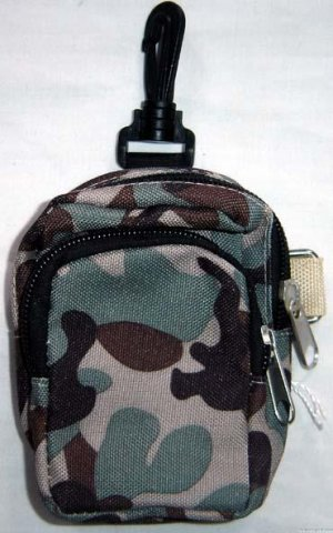 Backpack Style Cell Phone Bag Holder Coin Purse Brown & Green Camoflauge #0214