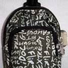 Backpack Style Cell Phone Bag Holder Coin Purse Green Grafitti Sex Kinky Glamour Trendy Love #0189
