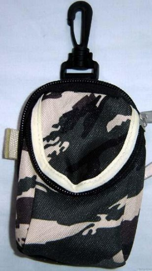 Backpack Style Cell Phone Bag Holder Coin Purse Green Khaki & Brown Camoflauge #0212