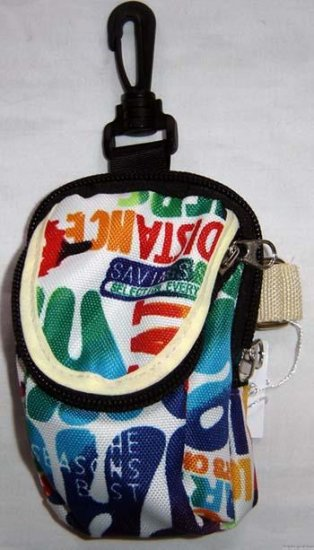 Backpack Style Cell Phone Bag Holder Coin Purse Groovy Tie Dye Chinglish Slogans #0194