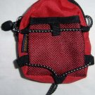 Backpack Style Cell Phone Bag Holder Coin Purse Red & Black Sporty #0186