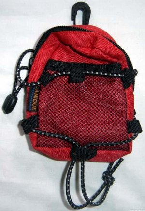 Backpack Style Cell Phone Bag Holder Coin Purse Red & Black Sporty #0228