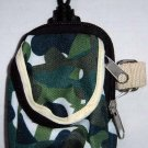 Backpack Style Cell Phone Bag Holder Coin Purse Shades Of Green & White Camoflauge #0193