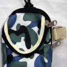 Backpack Style Cell Phone Bag Holder Coin Purse Blue Green & White Camoflauge #0233