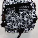 Backpack Style Cell Phone Bag Holder Coin Purse Navy Blue Grafitti Sex Kinky Glamour Trendy #0222