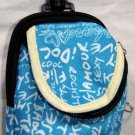 Backpack Style Cell Phone Bag Holder Coin Purse Light Blue Grafitti Sex Kinky Glamour Trendy #0224
