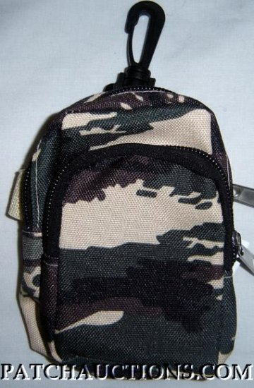 Backpack Style Cell Phone Bag Holder Coin Purse Green Brown & Cream Camo #0171