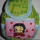 Backpack Style Cell Phone Bag Holder Coin Purse Betty Boop Wink #0176