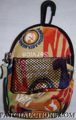 Backpack Style Cell Phone Bag Holder Coin Purse Groovy Grafitti #0180