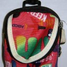 Backpack Style Cell Phone Bag Holder Coin Purse Groovy Tie Dye Grafitti #0174
