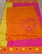 Hearts On The Beach Egyptian Cotton Beach towel