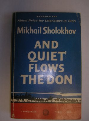 And Quiet Flows the Don by Mikhail Sholokhov paperback Vintage Giant ed. 1966