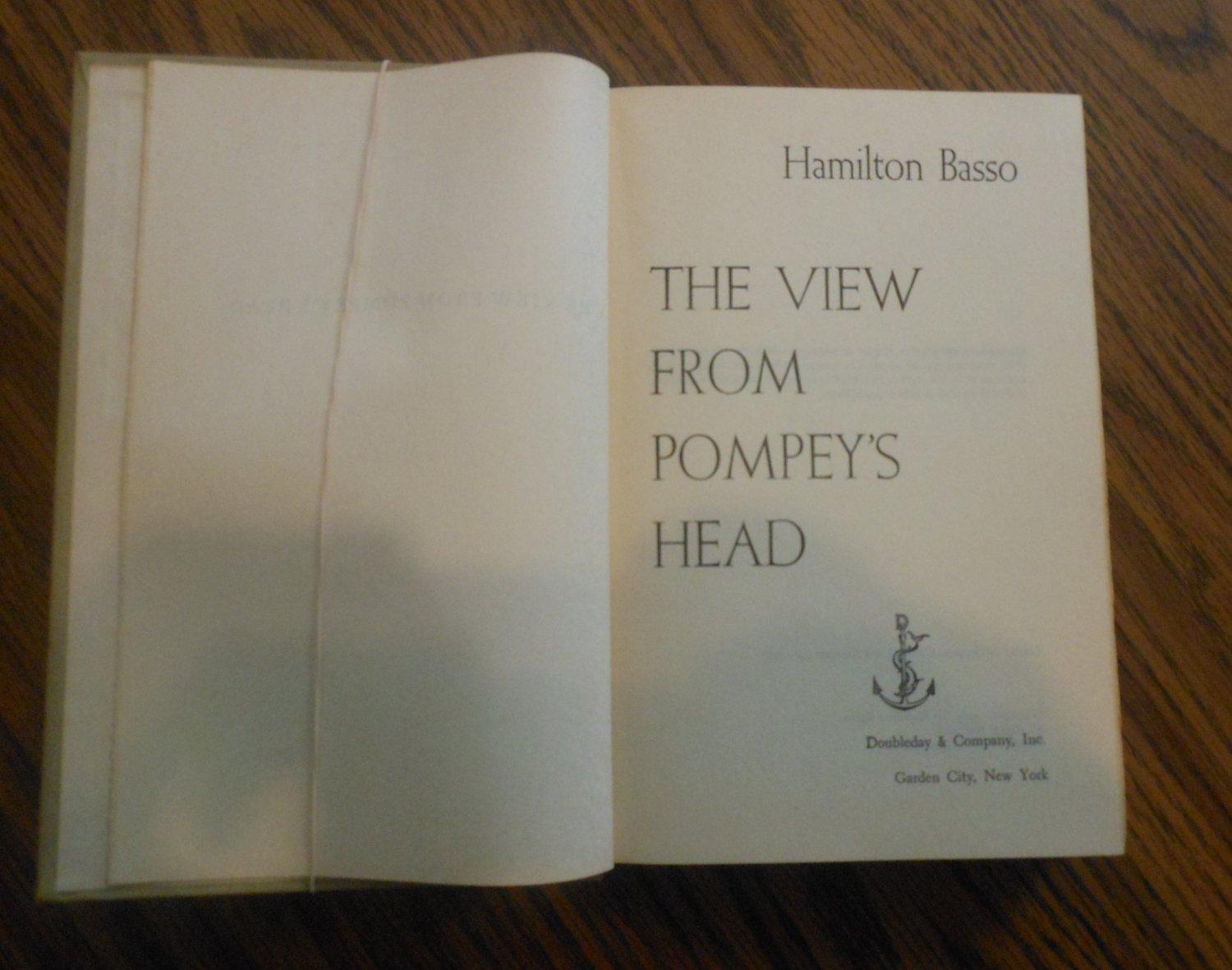 The View from Pompey's Head by Hamilton Basso 1954