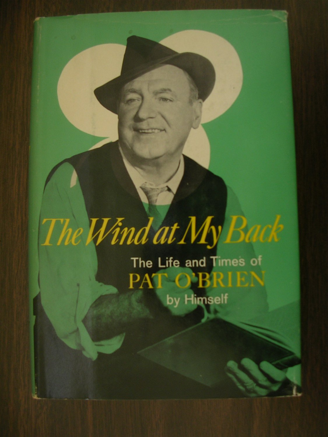 The Wind At My Back by Pat O'Brien SIGNED by author