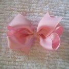 Baby Pink Grosgrain Hair Bow