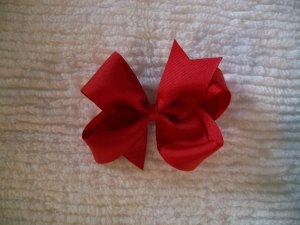 Red Grosgrain Hair Bow