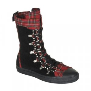 Deviant - Men's Ankle High Sneaker Boot with D- Ring Lace Up
