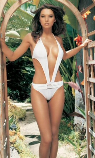 One Piece Bathing Suit with Buckle and Full Back