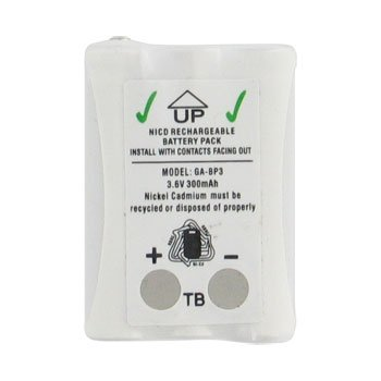 3.6v 300mAh Ni-CD BATTERY PACK-PP2161