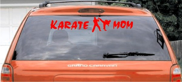 Karate Mom - Red Large Window Decal